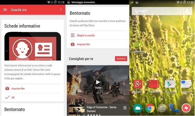 Google Play Movies Material design