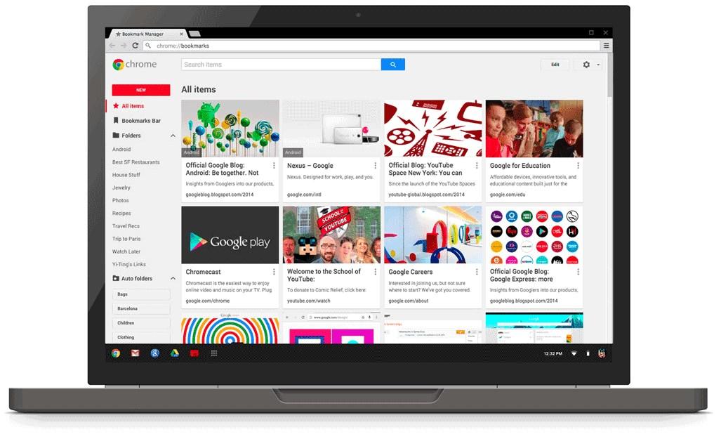 Chrome Lesezeichen-Manager