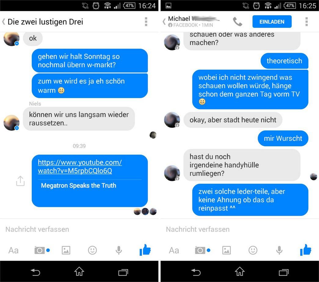 Messenger Nachricht Gelesen