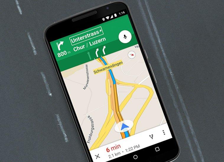 google maps spurführung