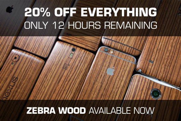 dbrand zebra wood