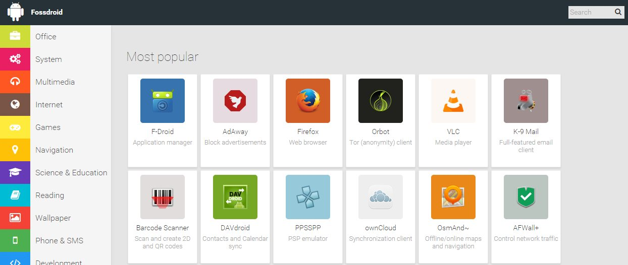 Fossdroid: App-Store für Android mit Open Source und
