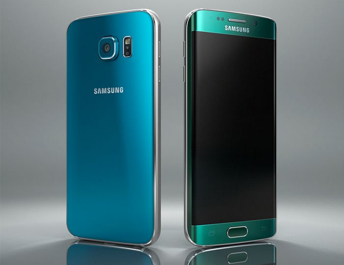 galaxy s6 blau und galaxy s6 edge grün