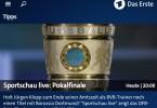 ARD App Livestream DFB Pokal