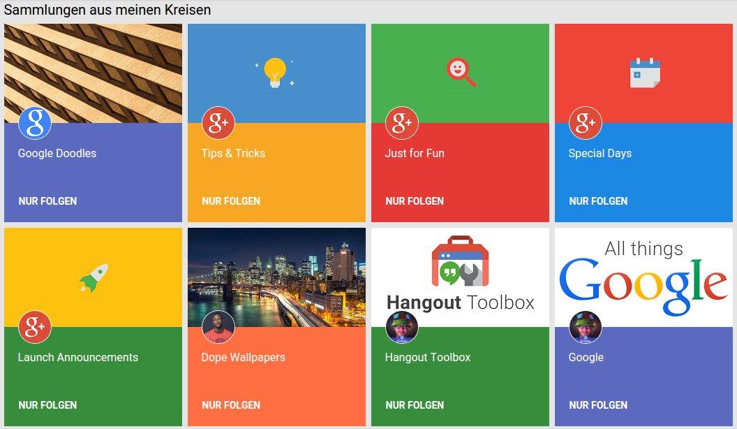 google plus sammlungen