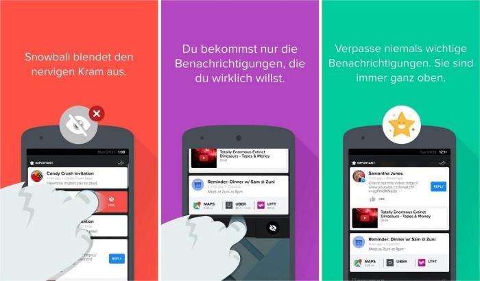 Snowball Android Screenshots