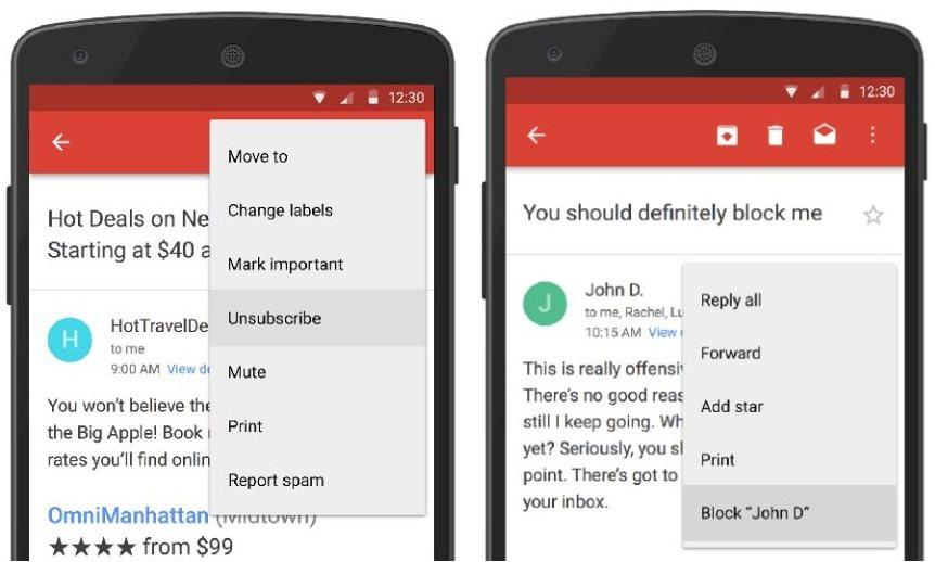 neu in gmail f r android absender blockieren und newsletter abmelden. Black Bedroom Furniture Sets. Home Design Ideas