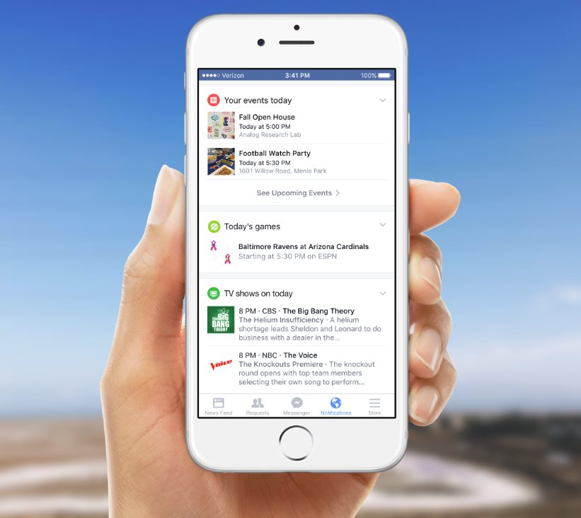 facebook benachrichtigungen google now konkurrent