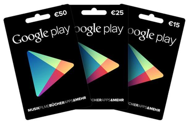 google play geschenkkarten