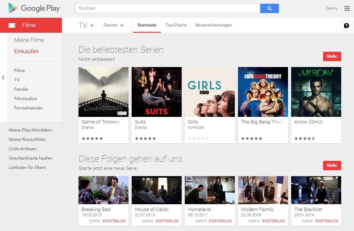 Google Play Serien