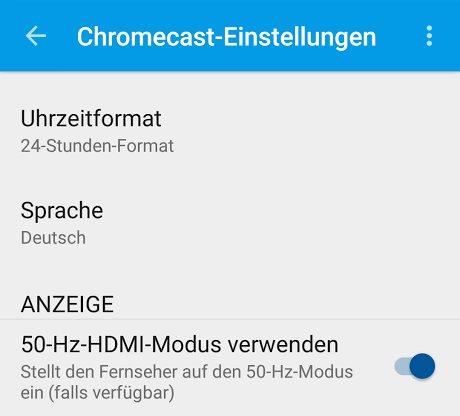chromecast 50hz