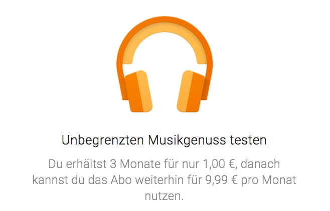 google play music 1 euro 3 monate