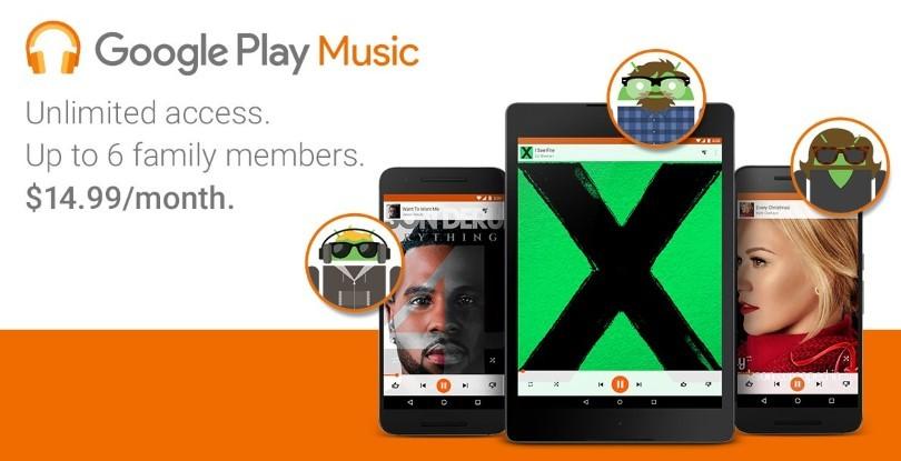 Google Play Music Family Plan