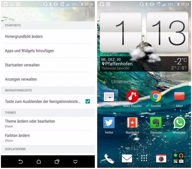 one a9 navigation bar 6.0.1