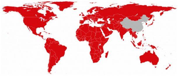 Netflix Weltkarte