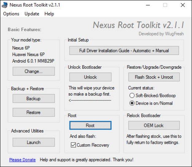 nexus root toolkit 2.1.1