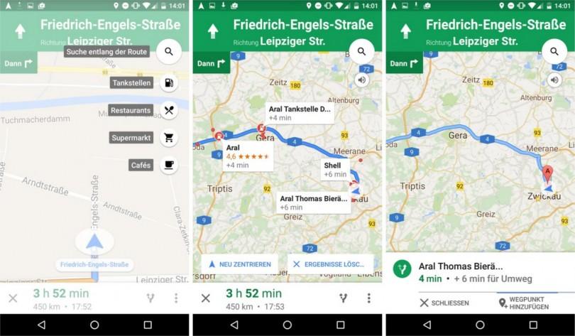 Google Maps POI Suche