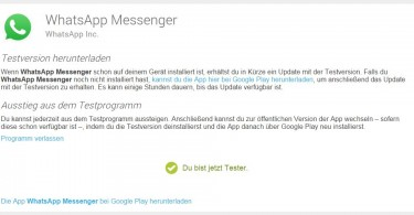 WhatsApp Testprogramm Google Play