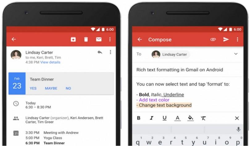 Gmail Update Februar 2016
