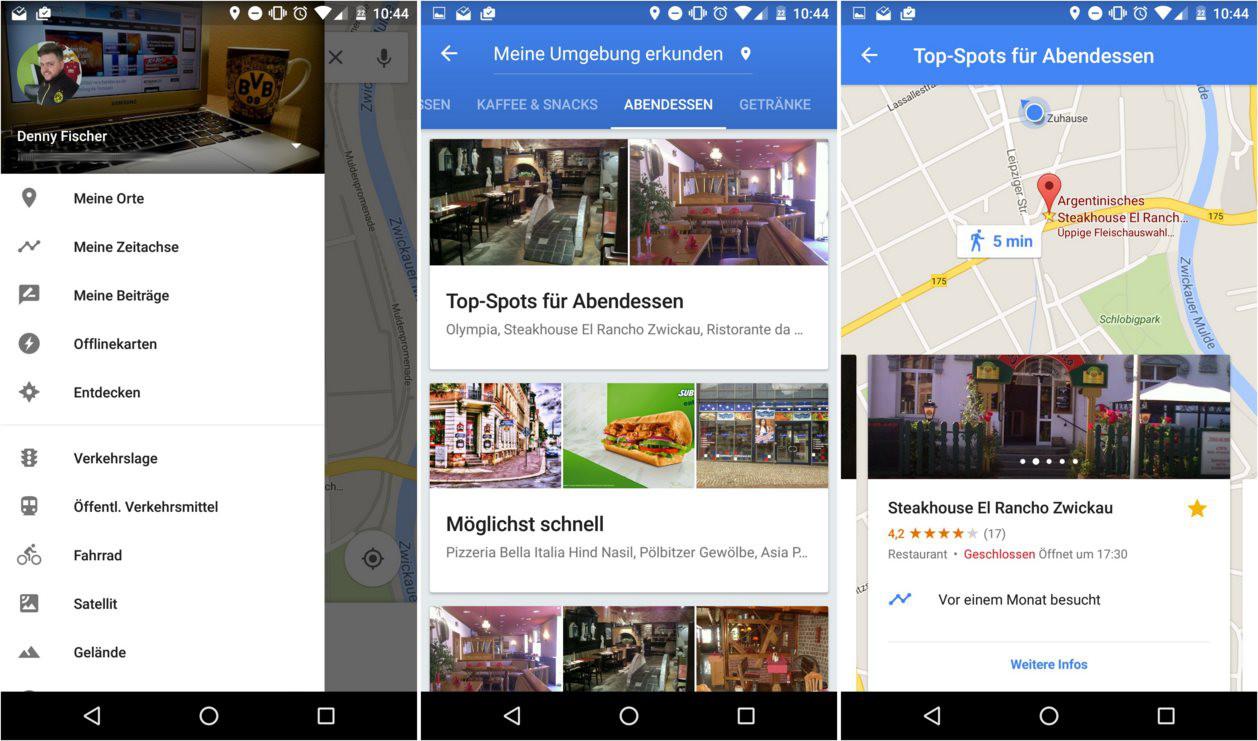 Google Maps Entdecken