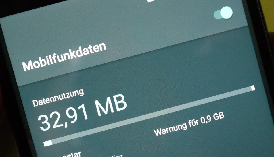 mobiles Internet Verbrauch Volumen