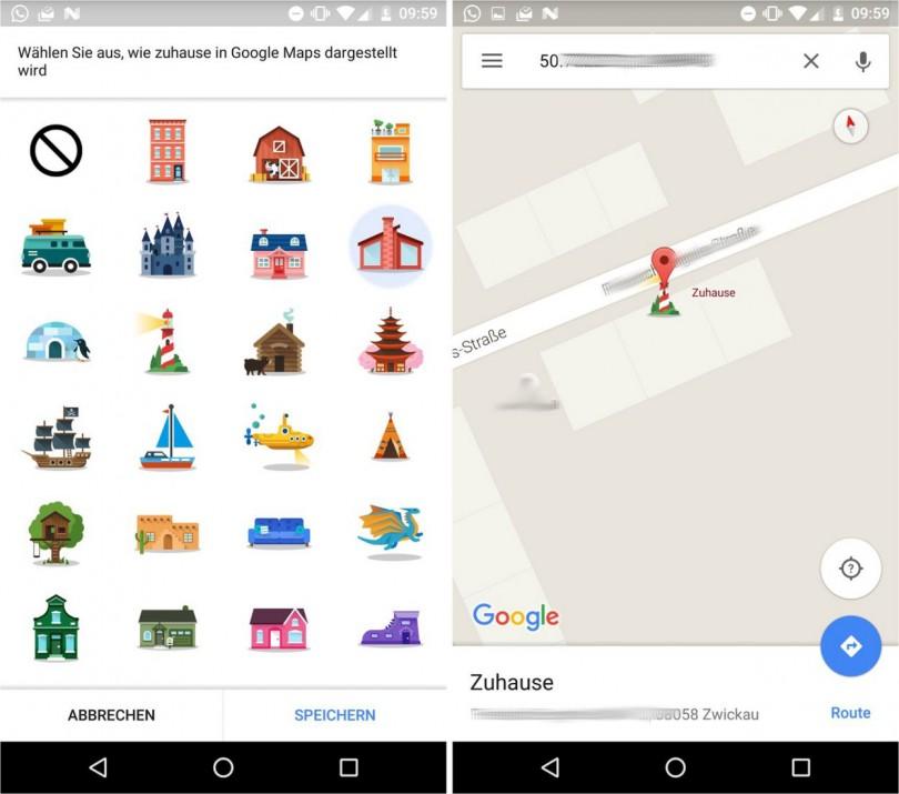 google maps 9.22 icon zuhause
