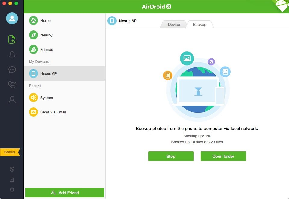 AirDroid 3 Backup