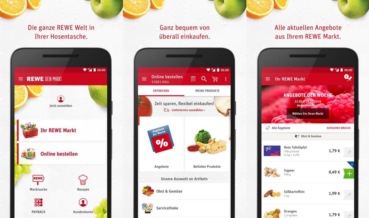 Rewe präsentiert neue App für den Lieferservice