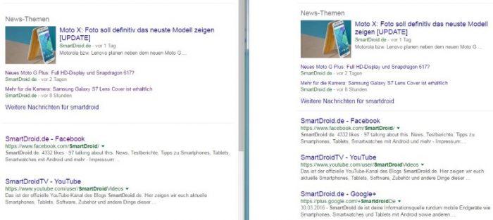 Google größerer Zeilenabstand