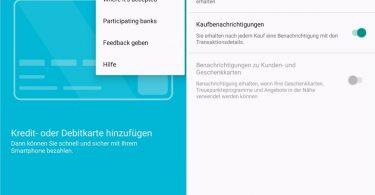 Android Pay App deutsch übersetzung