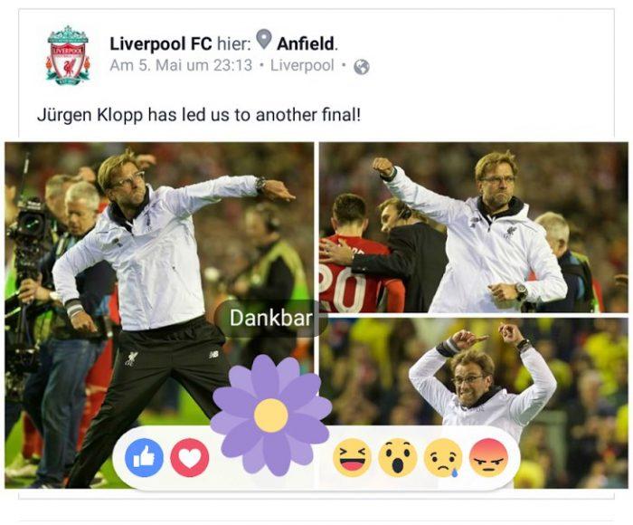 Facebook Dankbar Reaktion Blume (1)