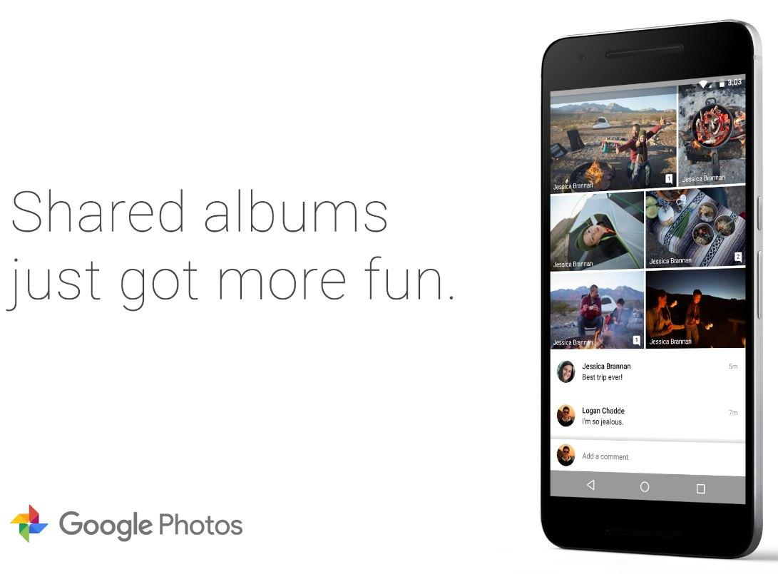 Google Fotos geteilte Alben Kommentarfunktion