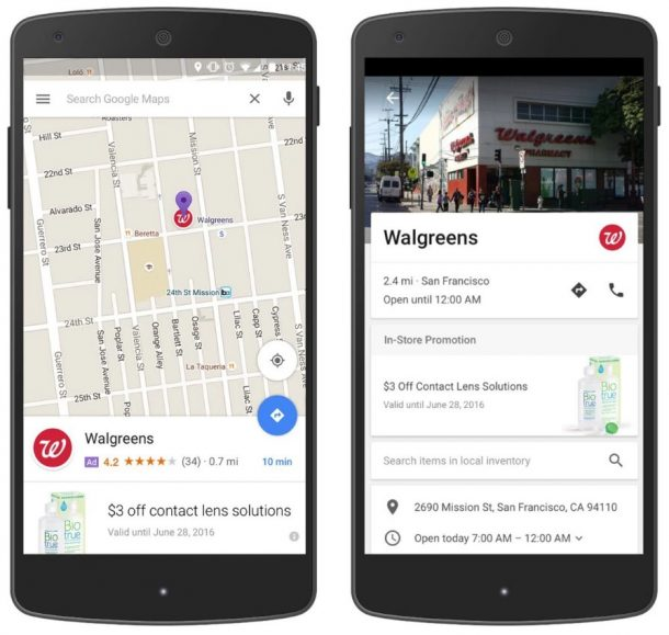 Google Maps Promoted Pins