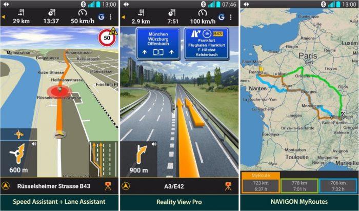 Navigon Europe Screenshots