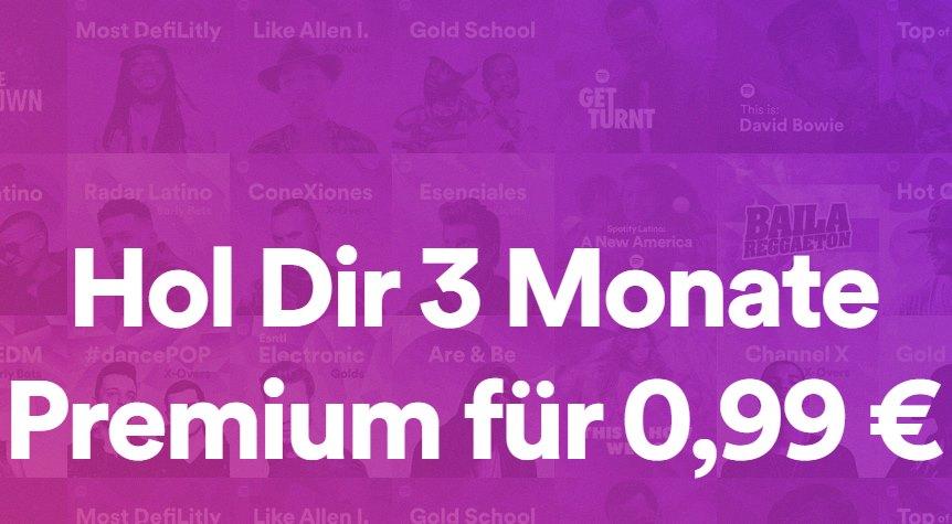 Spotify Premium 99 Cent drei Monate