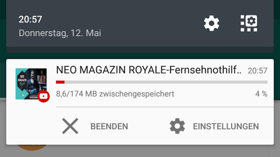 YouTube Android App Zwischenspeichern