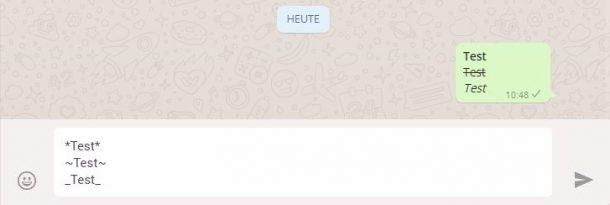 WhatsApp Web Textformatierung