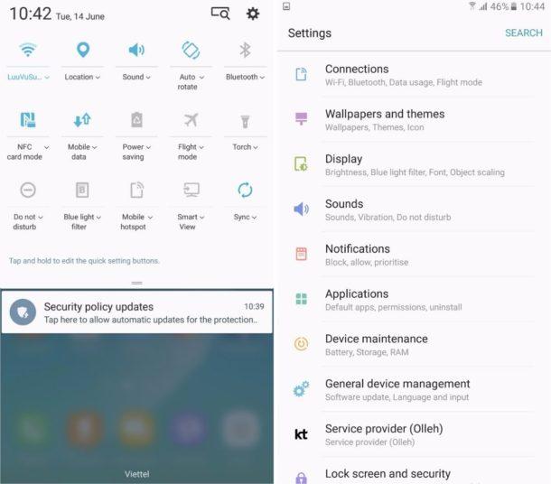 Samsung Galaxy Note 7 TouchWiz Beta