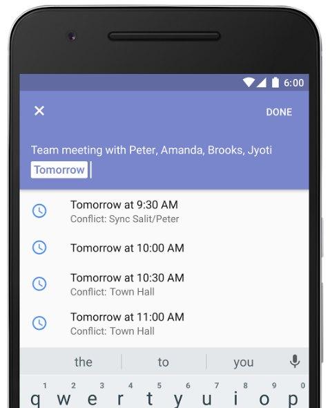 Google Kalender finde einen Termin