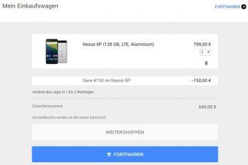 Nexus 6P Deal Google Store
