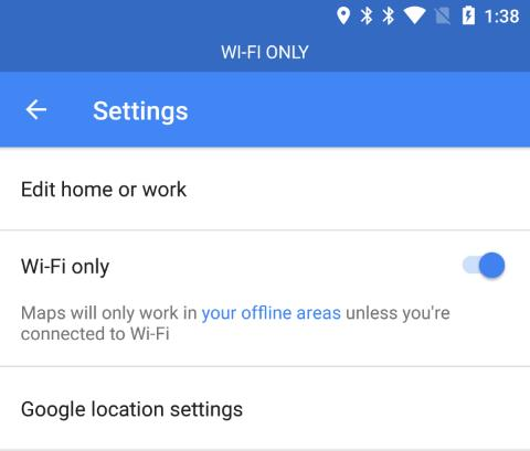 Google Maps Wi-Fi only