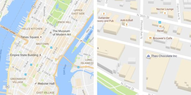 Google Maps Kartendesign Update Juli 2016 (2)