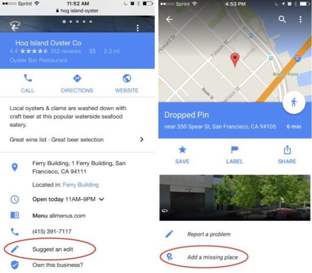Google Maps Vorschläge (1)
