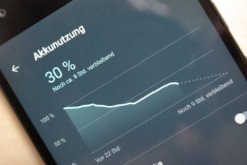 Android 7 Akku-Statistik Header