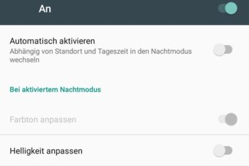Android 7 Nachtmodus