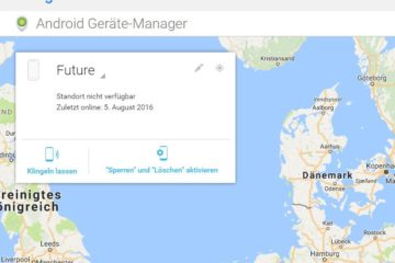 Android Geräte-Manager Header