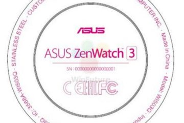 ZenWatch 3 ASUS FCC leak