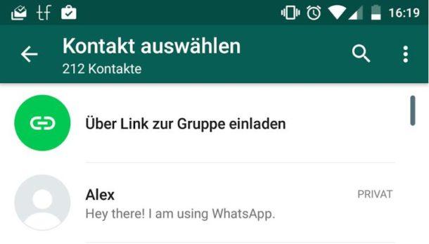 whatsapp gruppeneinladungen