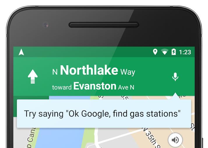 maps spracheingabe ok google