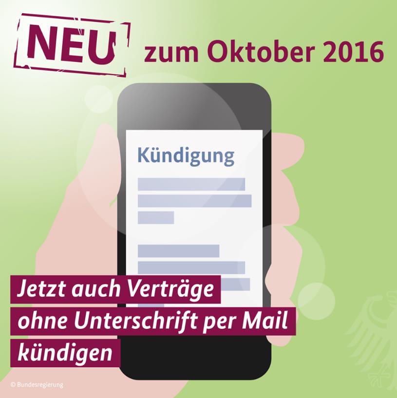 Seit 1 Oktober Kündigung Per Mail Ohne Unterschrift Wirksam